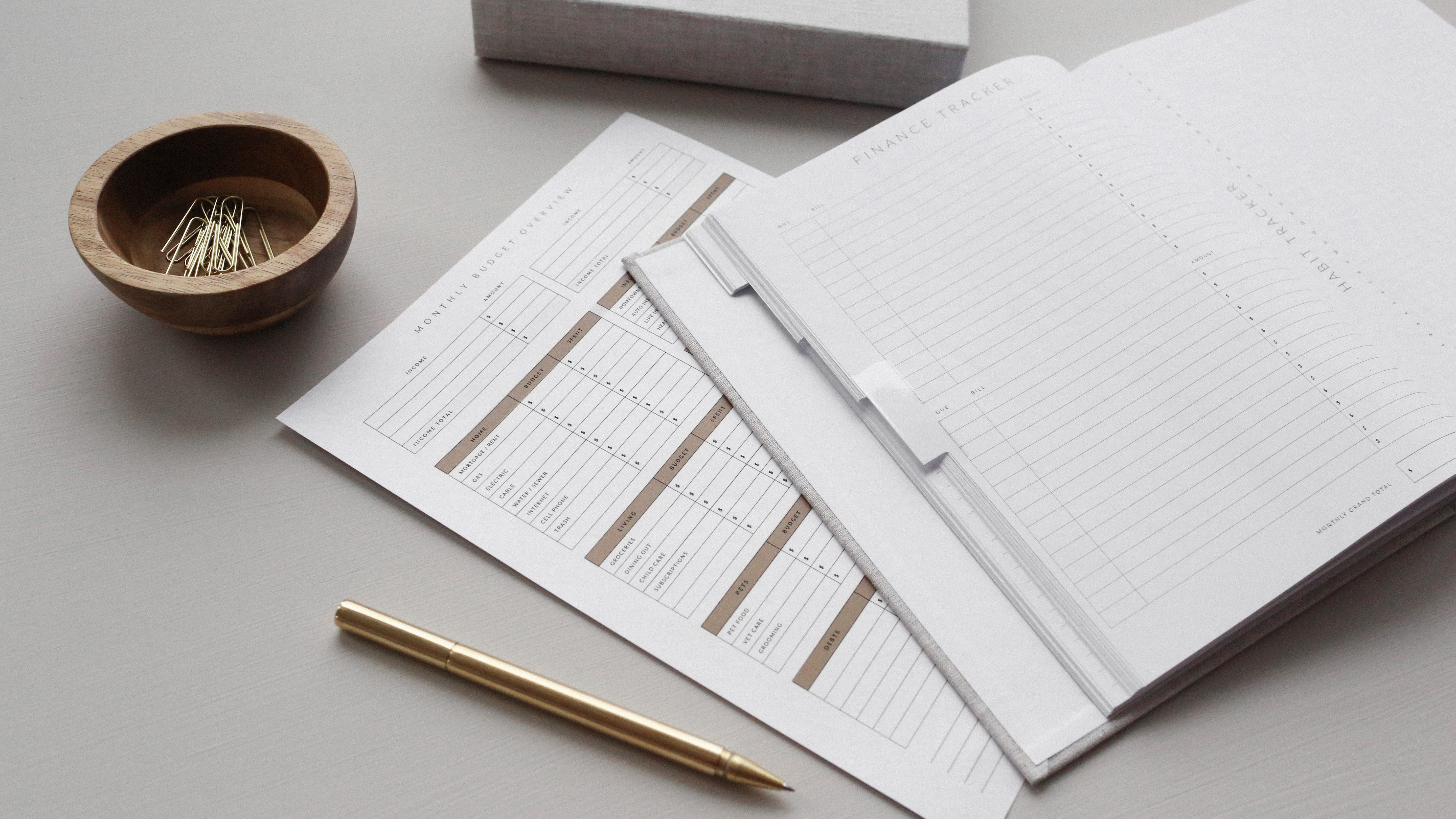 Good Habit budget and expense form to prepare personal finances