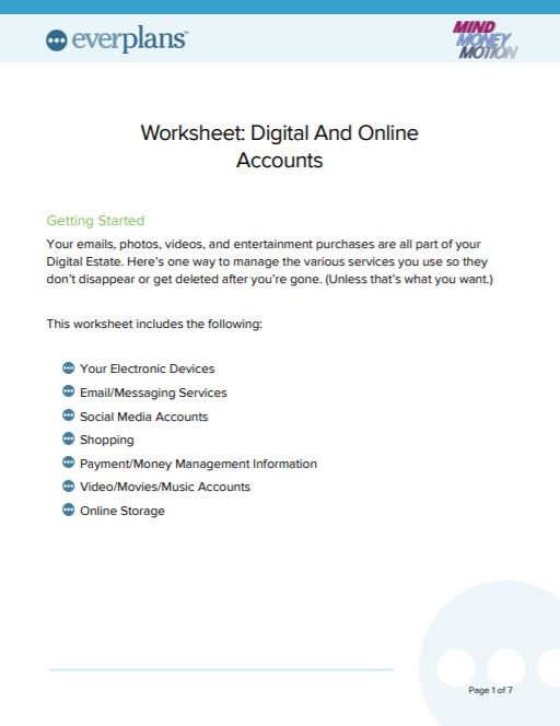 digital and online accounts