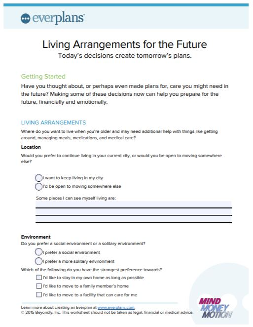 living arrangements for the future