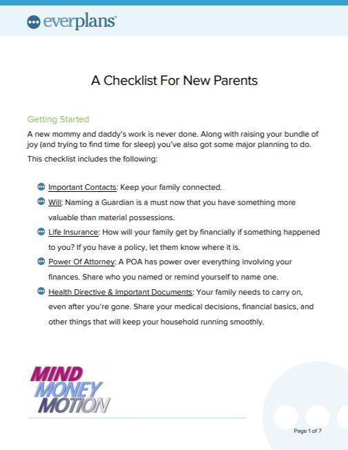 new parent checklist
